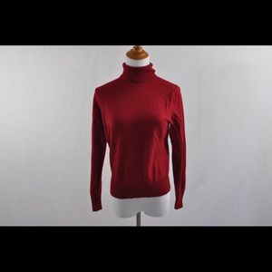 Lord & Taylor Red Cashmere Sweater